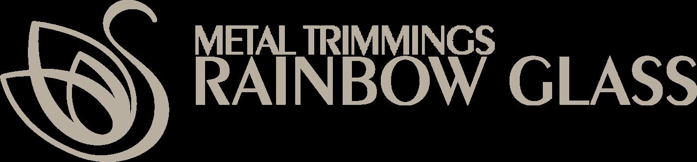 Kovová borta | Rainbow Glass Logo